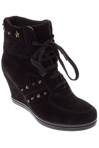 meline baskets femme de couleur noir