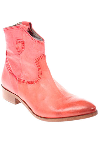 b et confiture boots femme de couleur rouge