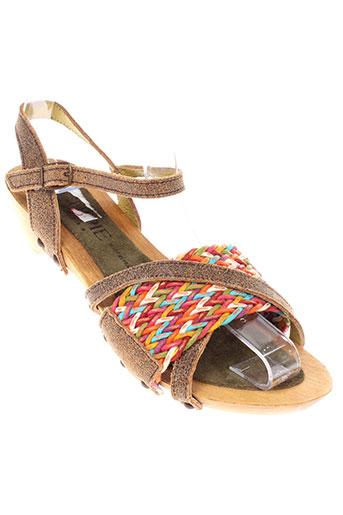 chipie sandales et nu et pieds femme de couleur marron