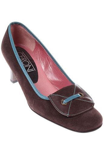 ceroni chaussures femme de couleur marron