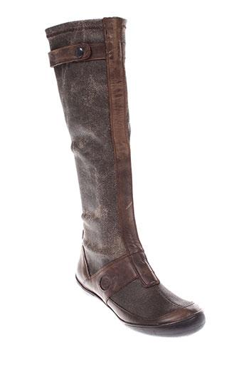 stephane et gontard bottes femme de couleur gris