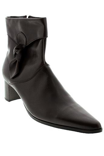 dos de dos chaussures femme de couleur marron