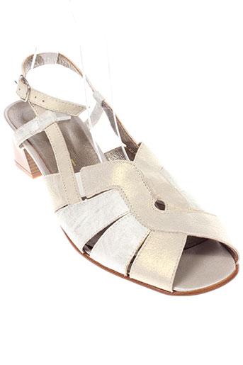 carline sandales et nu et pieds femme de couleur blanc