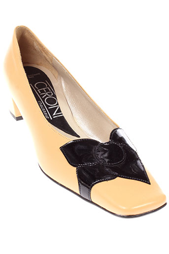 ceroni chaussures femme de couleur beige