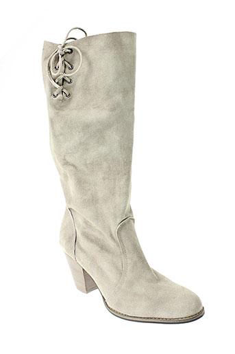 one et step bottes femme de couleur gris