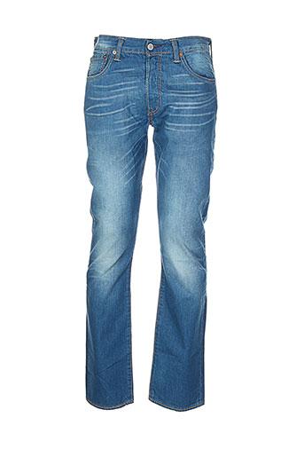 levis jeans et coupe et droite homme de couleur bleu