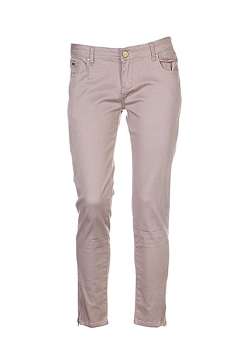 place et du et jour pantalons et decontractes femme de couleur beige