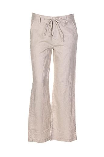a et c et b pantalons et decontractes femme de couleur beige