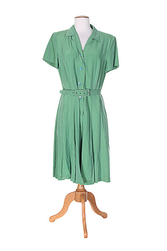 federica robes femme de couleur vert