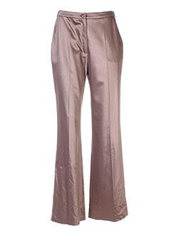 Pantalon chic marron HELENA SOREL pour femme