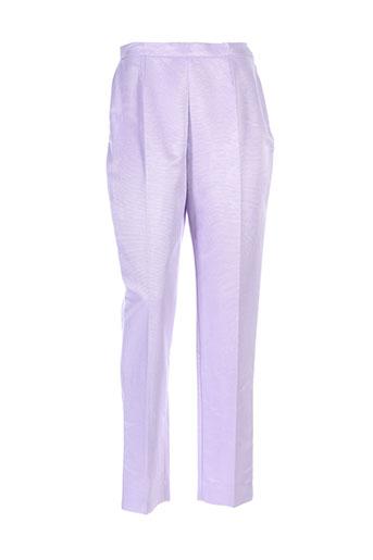 georges rech pantalons femme de couleur violet