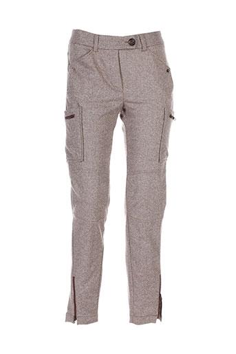 helena sorel pantalons femme de couleur gris