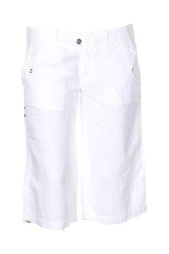 para nada shorts / bermudas femme de couleur blanc