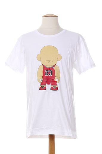 art toy t-shirts homme de couleur blanc