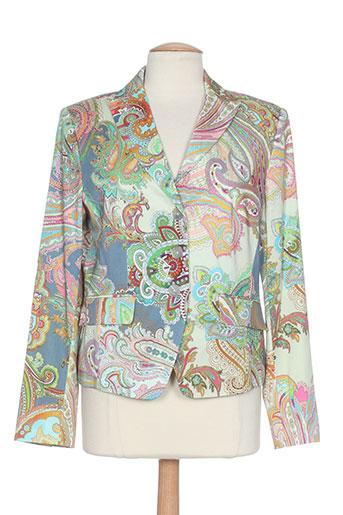 white label vestes femme de couleur vert