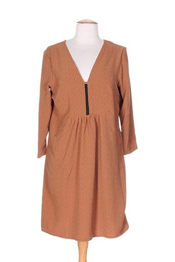 jane wood robes femme de couleur marron