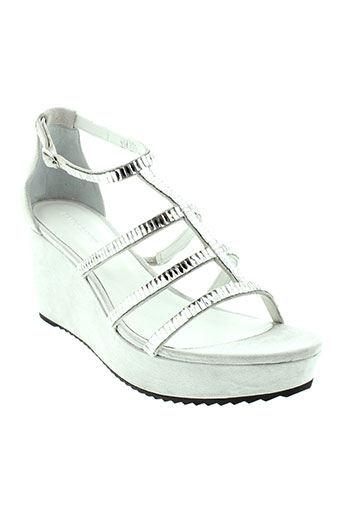elvio et zanon sandales et nu et pieds femme de couleur gris