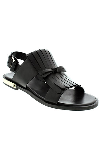 elvio et zanon sandales et nu et pieds femme de couleur noir