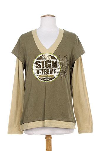 massana t-shirts femme de couleur vert