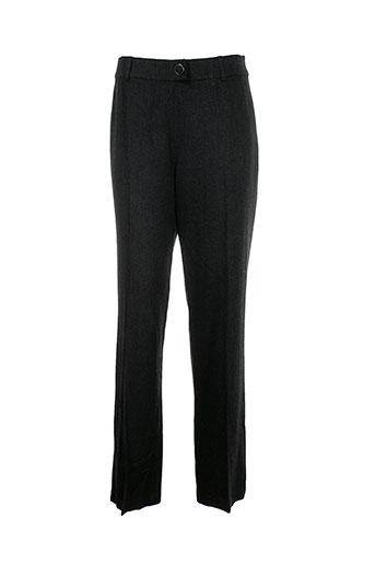 jean-luc francois pantalons femme de couleur gris