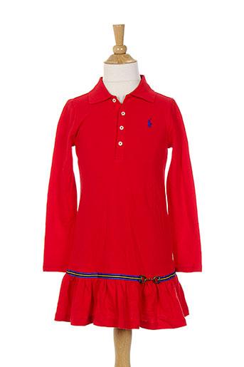 ralph et lauren robes et mi et longues fille de couleur rouge