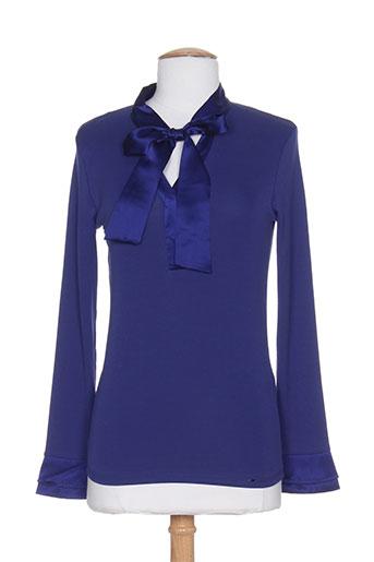 marc cain chemises femme de couleur bleu