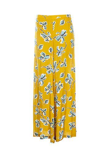 carla et montanarini pantalons et decontractes femme de couleur jaune