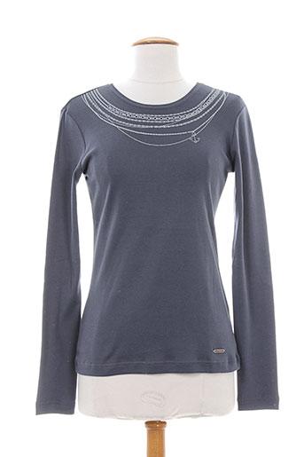 armor lux t et shirts et tops femme de couleur gris
