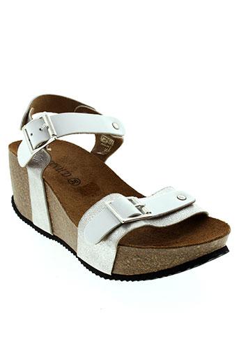 rondinaud sandales et nu et pieds femme de couleur blanc