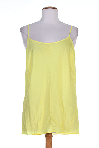 escada chemises femme de couleur jaune