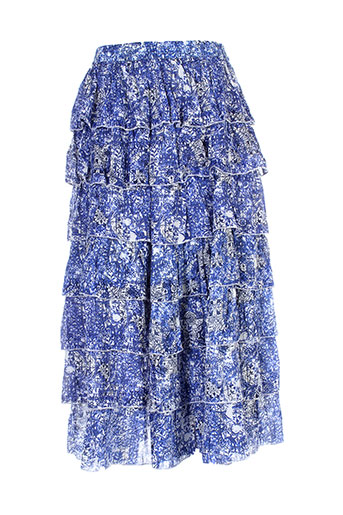 redsoul jupes et longues femme de couleur bleu