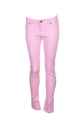 naava pantalons et decontractes fille de couleur rose