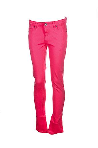 naava pantalons et decontractes fille de couleur rouge