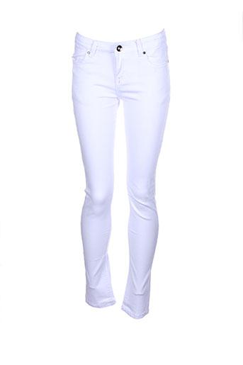 naava pantalons et decontractes fille de couleur blanc