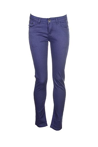 naava pantalons et decontractes fille de couleur bleu