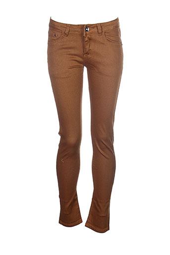 naava pantalons et decontractes fille de couleur marron
