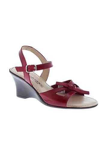 playeras sandales et nu et pieds femme de couleur rouge