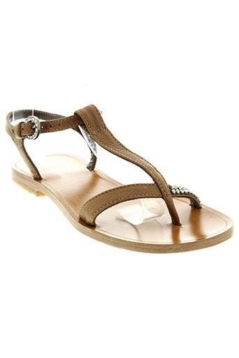 nimal chaussures fille de couleur marron