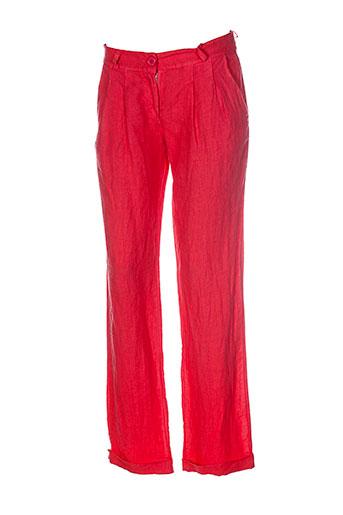 puro et lino pantalons et decontractes femme de couleur rose