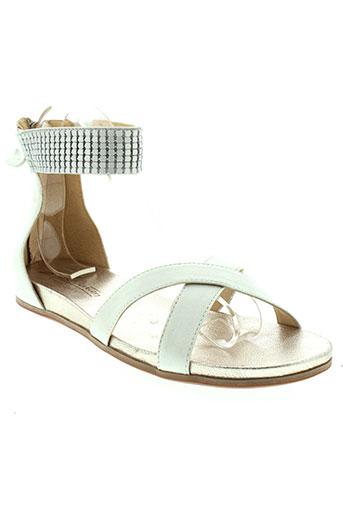 jb et martin sandales et nu et pieds femme de couleur blanc