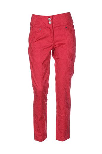 filipine lahoya pantalons femme de couleur rouge