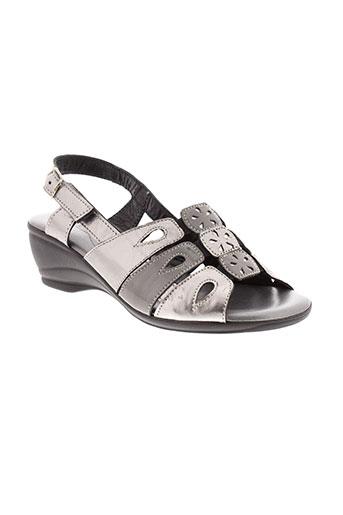 saimon sandales et nu et pieds femme de couleur gris