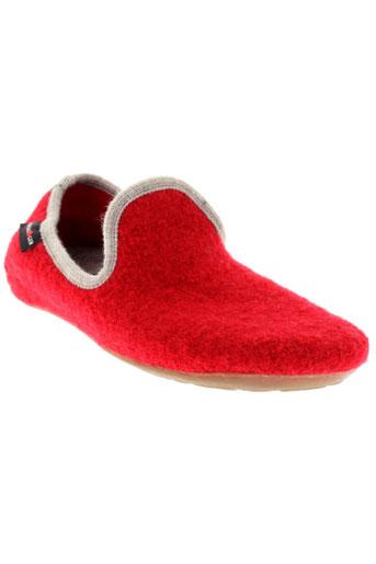 haflinger pantoufle femme de couleur rouge