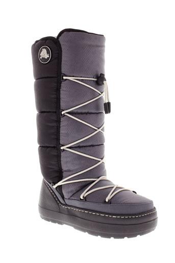 crocs chaussures femme de couleur gris