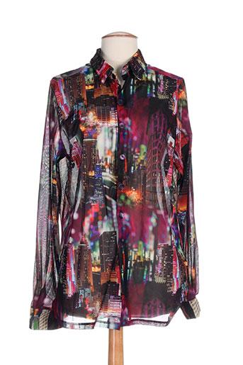 elie bonnie chemises femme de couleur violet