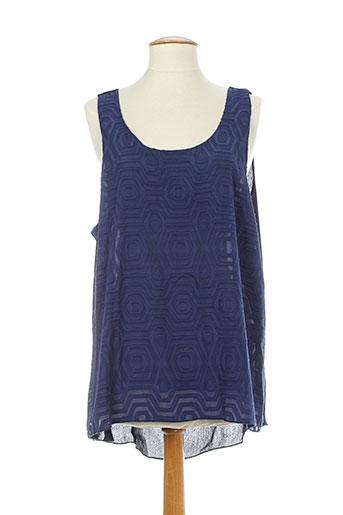 elie bonnie chemises femme de couleur bleu