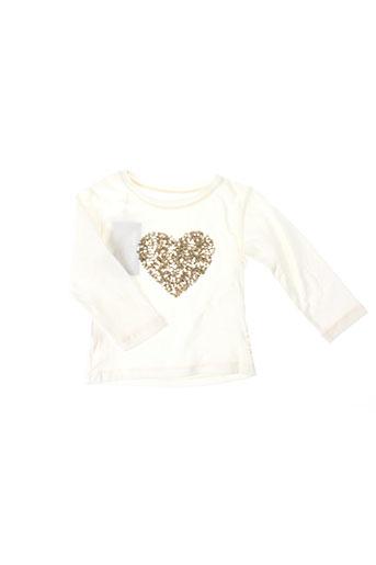 elisabeth puig t-shirts fille de couleur blanc