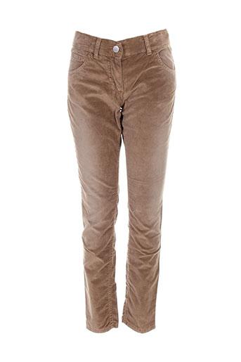 benetton pantalons et decontractes fille de couleur marron