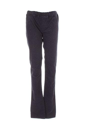 sisley pantalons fille de couleur noir