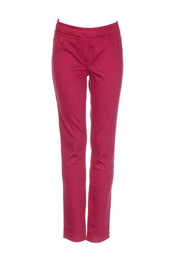 benetton pantalons fille de couleur rouge